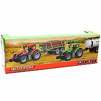 Машинка ігрова автопром «Зелений трактор з цистерною» (світло, звук, пластик) 7925ABCD, фото 3