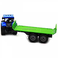 Машинка ігрова автопром «Синій трактор з відкритим причепом» (світло, звук, пластик) 7925ABCD, фото 6