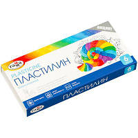 "Пластилин Гамма ""Классический"" 6 цветов, 120 г, со стеком, картон"