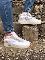 Nike Air Force 1 Low Off-White Мужские кроссовки белые Найк Аир Форс 1 Лов Офф Вайт