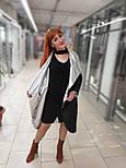 Плащевое демисезонное пальто-халат с фольгой Ricco Карат, фото 4