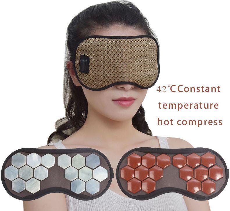 Турмалиновая маска для глаз массажер электрический