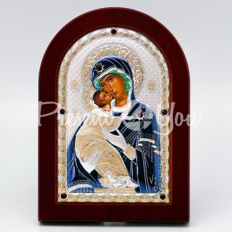 Владимирская икона Божией Матери, 10х14 см.