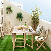 Набор садовой мебели на 4 персоны из натурального дерева