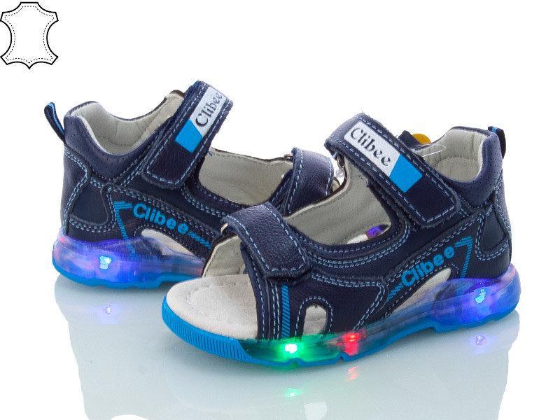 Детские сандалии Clibee для мальчика ,размеры  23, 24, 25, 26, 27 (синий)