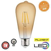 Светодиодная филаментная лампа RUSTIC VINTAGE 4W 2200К AMBER HOROZ