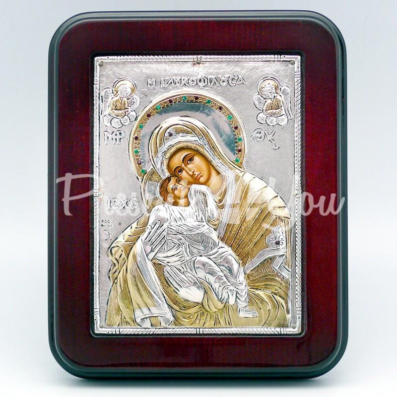 Икона Богородицы «Сладкое Лобзание» («Гликофилуса»), 14х18 см.