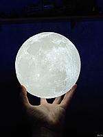 Дизайнерская, яркая Сенсорная лампа ночник 3D MOON 18см. Лучшая Цена!