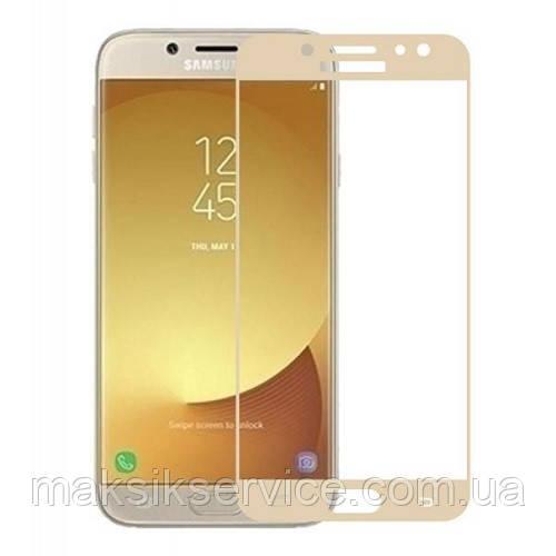 Захисне скло Full Screen Samsung J4 Plus Samsung J415 white gold black