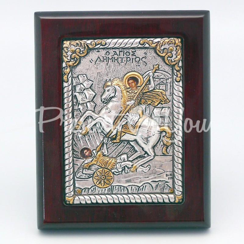 Икона «Дмитрий Солунский», 12х9,5 см.