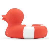 Oli&Carol - Игрушка для купания и прорезыватель для зубов Утка RED, натуральный каучук, фото 1