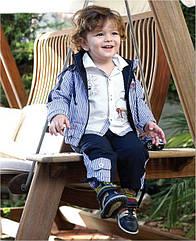Весенний комплект для мальчика Ebru: хлопковая ветровка, сорочка, штаны  (ТМ Petito Club, Турция)