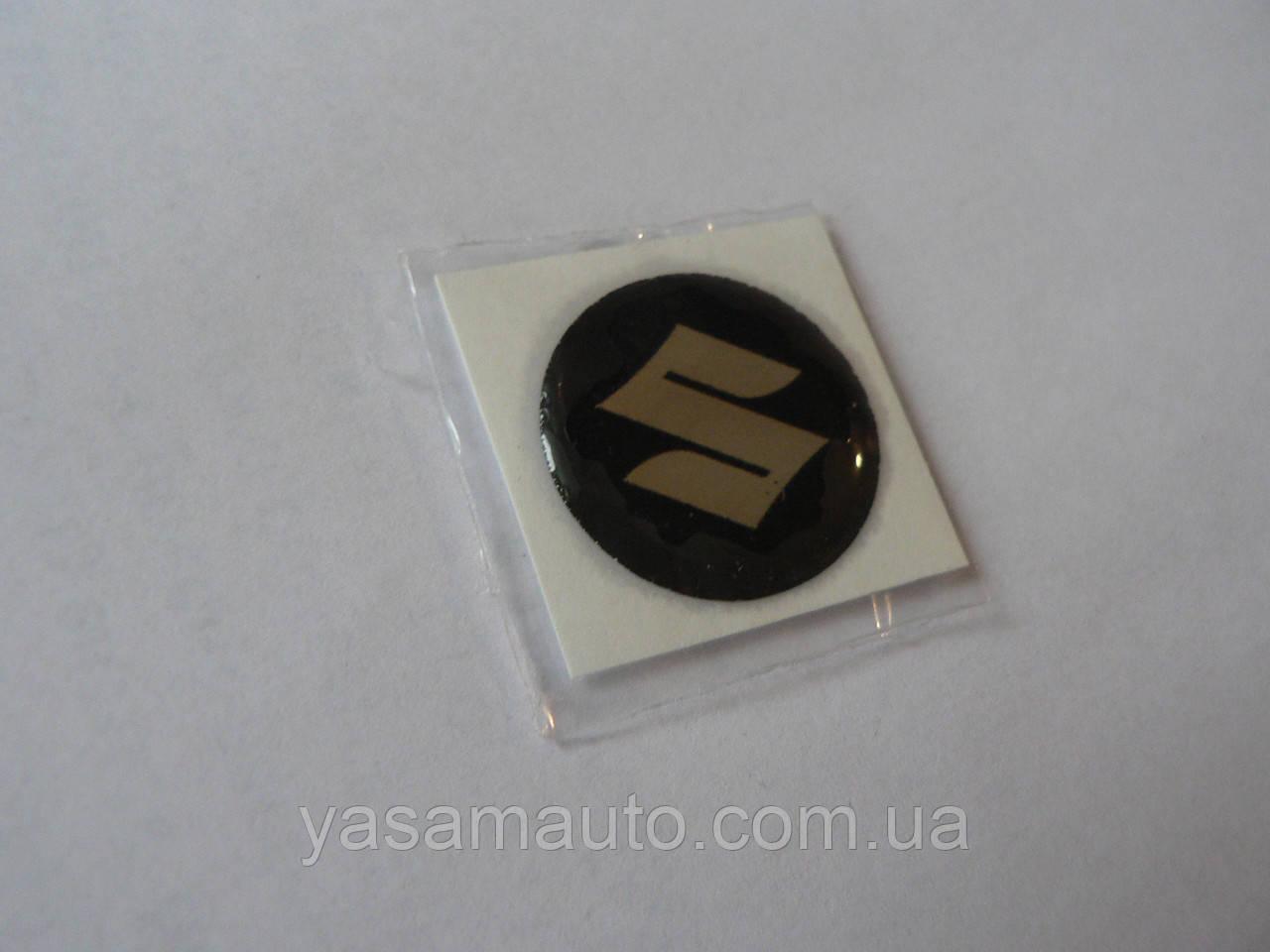 Наклейка s круглая Suzuki 20х20х1.2мм Уценка силиконовая эмблема в круге на авто Сузуки