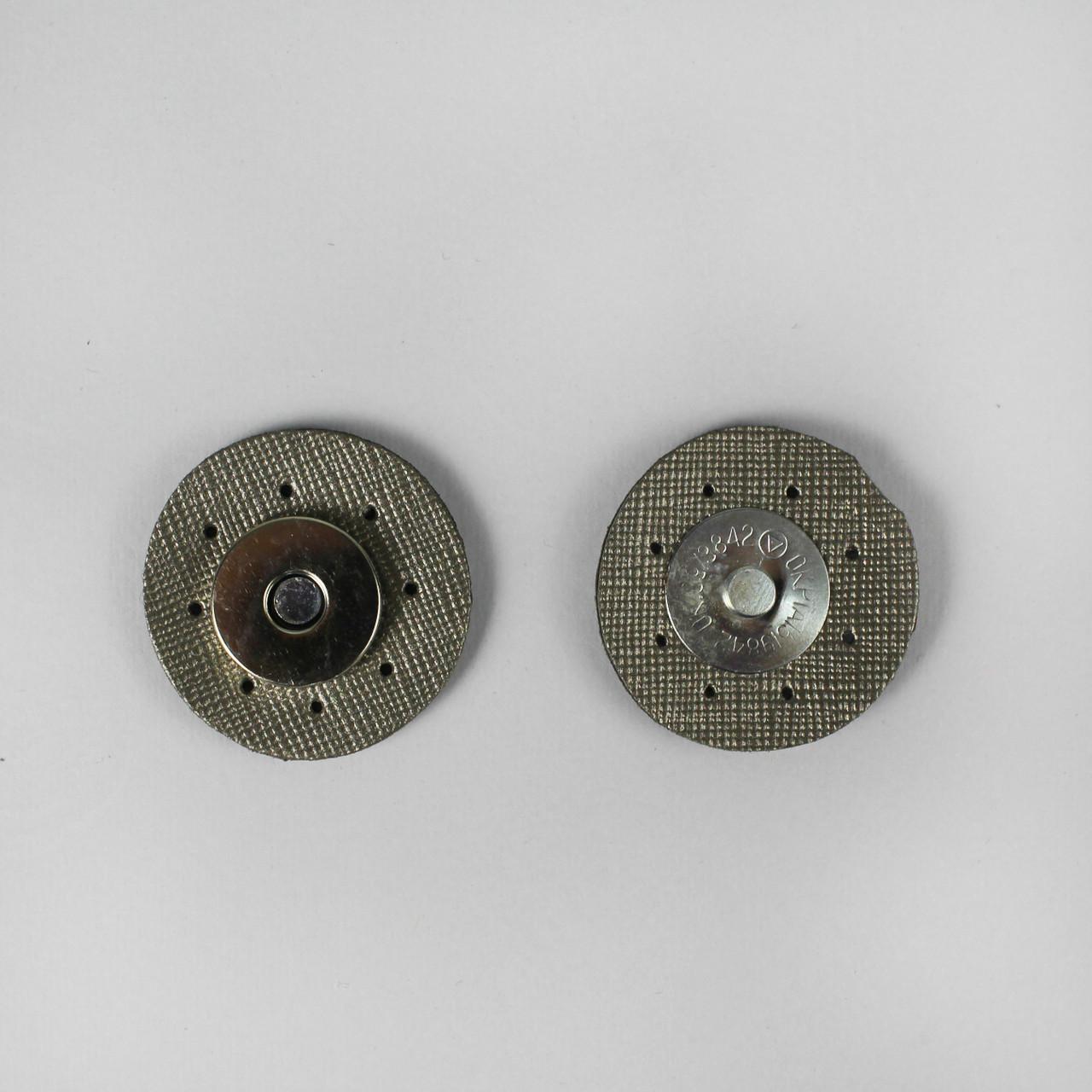 Кнопка магнитная 3,5 см пришивная на экокоже Металлик