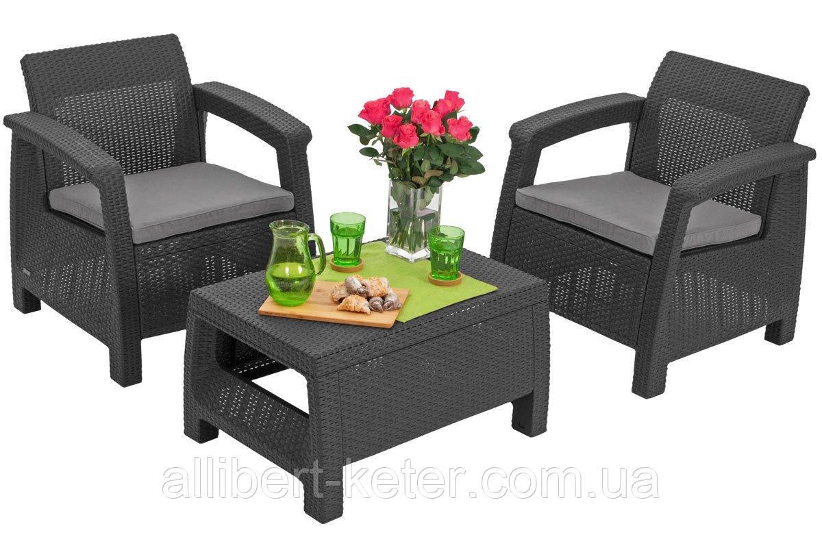 Комплект садовой мебели Allibert by Keter Corfu Balcony Set ( Weekend ) Graphite ( графит )