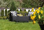 Комплект садовой мебели Allibert by Keter Corfu Balcony Set ( Weekend ) Graphite ( графит ), фото 7