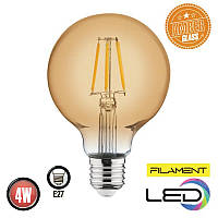 Светодиодная филаментная лампа шар RUSTIC GLOBE 4W 2200К  AMBER HOROZ