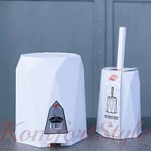 Відро для сміття з педаллю GEO 11л + йорж для туалету кольори в асортименті