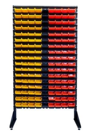 Стеллаж для метизов с ящиками