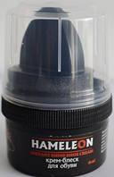 Крем-краска для обуви HAMELEON с губкой, черный, 60мл