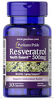 Антиоксидант Puritan's Pride - Resveratrol 500 мг (30 капсул)