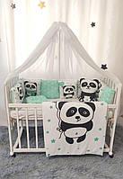Детский постельный комплект в кроватку Пандочка