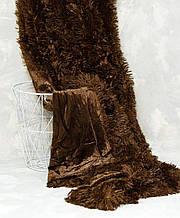 Меховое покрывало с длинным ворсом Травка