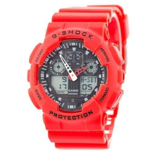 Часы Касио Casio G-Shock ga-100 RED Джи Шок  Красные (Наручний годинник). ГАРАНТИЯ