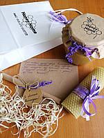 Медовий подарунок в білому пакеті 550 мл (770 г)