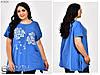 Летняя женская футболка размеры 56.58.60, фото 7