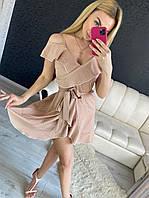 Легкое женское платье (красный, хаки, персик, беж в горошек, размер 42,44,46,48), фото 1