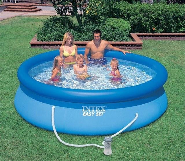 Надувной бассейн Intex 56932 396 см х 84 см с фильтрующим насосом и картриджем