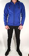 Мужской стильный молодежный спортивный костюм цвет яркий электрик