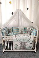 Детский постельный комплект в кроватку Слоники