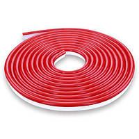 Светодиодная лента NEON 12В JL 2835-120 R IP65 красный, герметичная, 1м