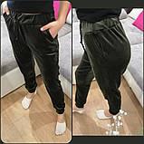 Женские велюрове спортивные штаны велюр на дайвинге размер: 42, 44, 46, 48, фото 2