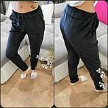 Женские велюрове спортивные штаны велюр на дайвинге размер: 42, 44, 46, 48, фото 3