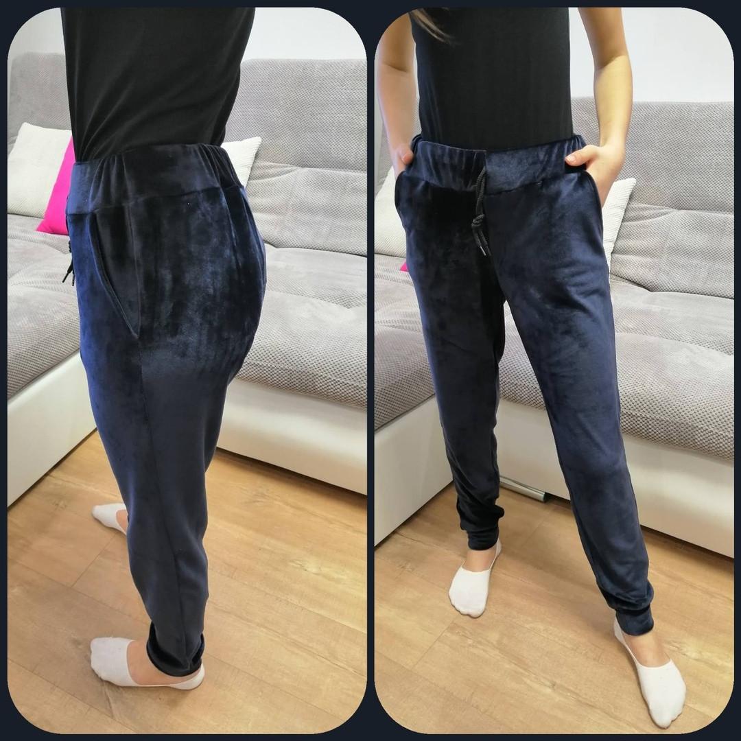 Женские велюрове спортивные штаны велюр на дайвинге размер: 42, 44, 46, 48
