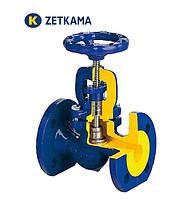 Вентиль (клапан) запорный фланцевый ZETKAMA 234 с сильфонным уплотнением ДУ32