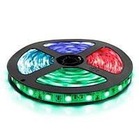 Світлодіодна стрічка 5050-60 RGB, негерметична, 1м, фото 1