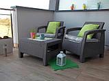 Комплект садовой мебели Allibert by Keter Corfu Balcony Set ( Weekend ) Cappuccino ( капучино ), фото 7