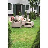 Комплект садовой мебели Allibert by Keter Corfu Balcony Set ( Weekend ) Cappuccino ( капучино ), фото 5