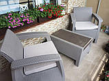 Комплект садовой мебели Allibert by Keter Corfu Balcony Set ( Weekend ) Cappuccino ( капучино ), фото 8