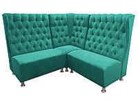 Угловой диван для ресторанов и кафе Элвис с каретной стяжкой, фото 1