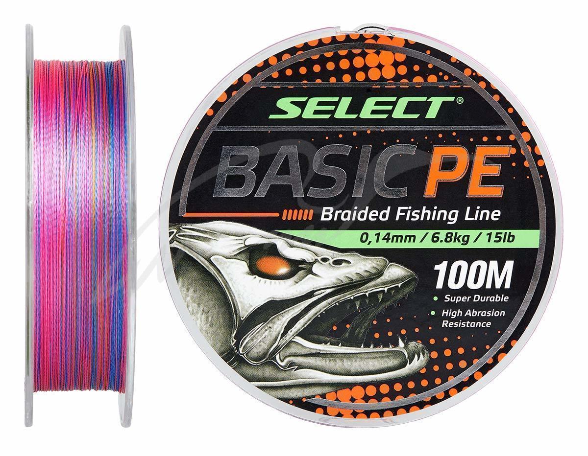 Шнур Select Basic PE 100m (разноцв.) 0.20mm 28LB/12.7kg
