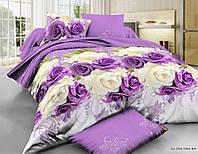 Постельное белье Бязь, комплект постельного белья Бархатные розы (полуторный)