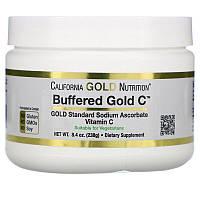 Витамин C Буферизованный в форме порошка, аскорбат натрияCalifornia Gold Nutrition, Buffered Gold C, некислый