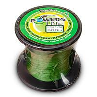 Шнур рыболовный плетеный Powers Line 500м  (0.18мм)
