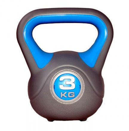 Гиря LiveUp Plastic Kettel Bell 3 кг Grey/Blue (LS2047-3)