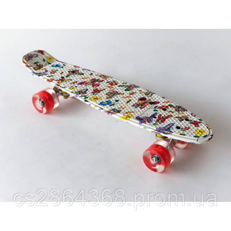 """Пенни Борд 22"""" Penny Board 22"""" Buterfly со светящимися колесами"""